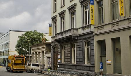 Studentenhuis en -resto De Brug in de Sint-Pietersnieuwstraat (Collectie UGentMemorie, © UGent - foto Pieter Morlion).